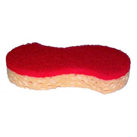Tampon éponge rouge et blonde