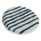 Disque microfibre sans trou central à rayures bleues
