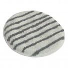 Disque microfibre sans trou central à rayures grises